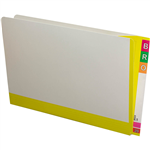 AVERY 165715 FULLVUE SHELF LATERAL FILE 30MM GUSSET YELLOW TAB AND SPINE FOOLSCAP BOX 100