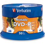 VERBATIM DVDR 47GB 16X WHITE PRINTABLE PACK 50