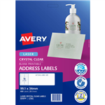 AVERY 959050 L7562 CRYSTAL CLEAR ADDRESS LABEL LASER 16UP CLEAR PACK 25