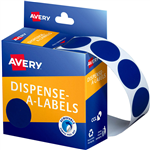 AVERY 937244 ROUND LABEL DISPENSER 24MM BLUE BOX 500