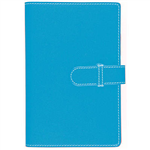 DEBDEN ACCENT PU COMPENDIUM WITH A4 NOTEPAD LIGHT BLUE