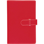 DEBDEN ACCENT PU COMPENDIUM WITH A4 NOTEPAD RED