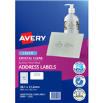 AVERY 959022 L7551 CRYSTAL CLEAR ADDRESS LABEL LASER 65UP CLEAR PACK 25