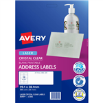 AVERY 959051 L7563 CRYSTAL CLEAR ADDRESS LABEL LASER 14UP CLEAR PACK 25