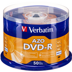 VERBATIM DVDR 47GB 16X SPINDLE PACK 50