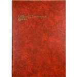 COLLINS 3880 SERIES ACCOUNT BOOK JOURNAL PAGED 84 LEAF A4 RED