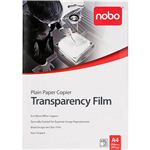 NOBO PLAIN PAPER COPIER OHP TRANSPARENCY FILM 100 MICRON A4 BOX 20