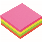 MARBIG CUBE NOTES 320 SHEETS 75 X 75MM ASSORTED BRILLIANT