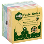 MARBIG ENVIRO REPOSITIONAL NOTES 100 SHEET 75 X 75MM PASTEL PACK 6