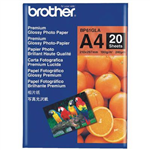 BROTHER BP61G GLOSSY PHOTO PAPER 190GSM A4 WHITE PACK 20