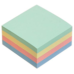 MARBIG CUBE NOTES 400 SHEETS 75 X 75MM ASSORTED PASTEL