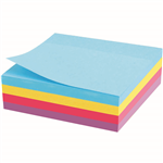 MARBIG CUBE NOTES 320 SHEETS 75 X 75MM ASSORTED RAINBOW