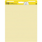 POSTIT 561 EASEL PAD RULED YELLOW 635 X 775MM