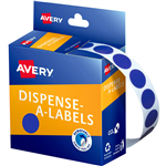 AVERY 937236 ROUND LABEL DISPENSER 14MM BLUE BOX 1050