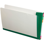 AVERY 165715 FULLVUE SHELF LATERAL FILE 30MM GUSSET DARK GREEN TAB AND SPINE FOOLSCAP BOX 100