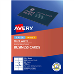 AVERY 959025 L7414 QUICK CLEAN BUSINESS CARD 150GSM 85 X 54MM MATTE WHITE PACK 200
