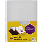 MARBIG KWIK ZIP DISPLAY BOOK REFILL A4 CLEAR PACK 10