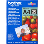 BROTHER BP71G PREMIUM PLUS GLOSSY PHOTO PAPER 260GSM A4 WHITE PACK 20