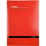 COLLINS A24 SERIES ACCOUNT BOOK JOURNAL FEINT RULED STAPLED 24 LEAF A4 RED