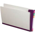 AVERY 165715 FULLVUE SHELF LATERAL FILE 30MM GUSSET PURPLE TAB AND SPINE FOOLSCAP BOX 100