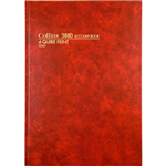 COLLINS 3880 SERIES ACCOUNT BOOK 4 QUIRE FEINT RULED 192 LEAF A4 RED