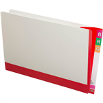 AVERY 165715 FULLVUE SHELF LATERAL FILE 30MM GUSSET RED TAB AND SPINE FOOLSCAP BOX 100