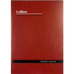 COLLINS A60 SERIES ACCOUNT BOOK DOUBLE LEDGER 60 LEAF A4 RED