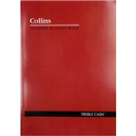 COLLINS A60 SERIES ACCOUNT BOOK 3 MONEY COLUMN TREBLE CASH 60 LEAF A4 RED