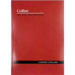 COLLINS A60 SERIES ACCOUNT BOOK 4 MONEY COLUMN 60 LEAF A4 RED