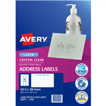 AVERY 959055 L7560 CRYSTAL CLEAR ADDRESS LABEL LASER 21UP CLEAR PACK 25