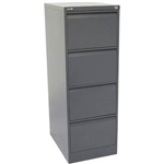 GO STEEL GFCA4 FILING CABINET 4 DRAWERS 1321 X 460 X 620MM GRAPHITE RIPPLE MPC3