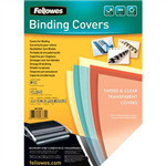 FELLOWES BINDING COVER PVC 240 MICRON A4 CLEAR PACK 100