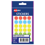 AVERY 932292 MULTIPURPOSE STICKERS CIRCLE 16MM MULTI COLOURED PACK 140