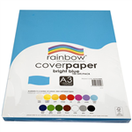 RAINBOW COVER PAPER 125GSM A3 BRIGHT BLUE PACK 100