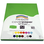 RAINBOW COVER PAPER 125GSM A3 LIGHT GREEN PACK 100