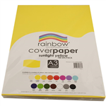 RAINBOW COVER PAPER 125GSM A3 SUNLIGHT YELLOW PACK 100