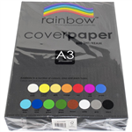 RAINBOW COVER PAPER 125GSM A3 BLACK PACK 500