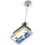 DURABLE CARD HOLDER DELUXE ACRYLIC PRO WITH REEL