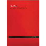 COLLINS A24 SERIES ACCOUNT BOOK MINUTE FEINT RULED STAPLED 24 LEAF A4 RED