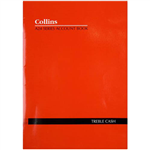 COLLINS A24 SERIES ACCOUNT BOOK 3 MONEY COLUMN TREBLE CASH 24 LEAF A4 RED