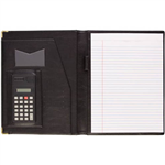 DEBDEN ECONOMY CONFERENCE FOLDER WITH FULL SIZE CALCULATOR A4 BLACK PU COVER