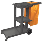 CLEANLINK 3 TIER JANITOR TROLLEY