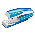 LEITZ NEXXT WOW HALF STRIP STAPLER 30 SHEET BLUE
