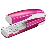 LEITZ NEXXT WOW HALF STRIP STAPLER 30 SHEET PINK