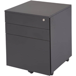 GO STEEL MOBILE PEDESTAL STEEL 3 DRAWERS 460 X 472 X 610MM BLACK SATIN