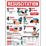 BRADY RESUSCITATION SAFETY WALL CHART POSTER