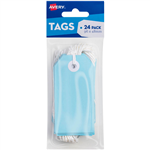 AVERY 13202 TAGIT WITH STRING SIZE 3 PASTEL BLUE PACK 24