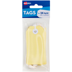 AVERY 13205 TAGIT WITH STRING SIZE 3 PASTEL YELLOW PACK 24