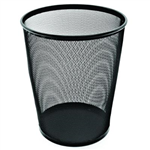 ESSELTE METAL MESH WASTE BIN 19 LITRE BLACK