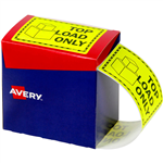 AVERY 932617 MESSAGE LABEL TOP LOAD ONLY 75 X 996MM FLUORO YELLOW PACK 750